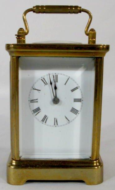 8: Brass Carriage Clock w/Gong Strike