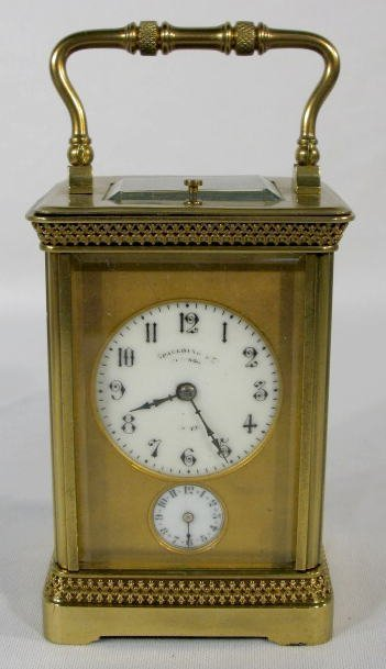 13: French Carriage Clock w/Gong Strike