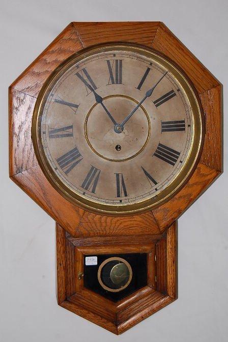 "14: Waterbury 12"" Drop Octagon Wall Clock"