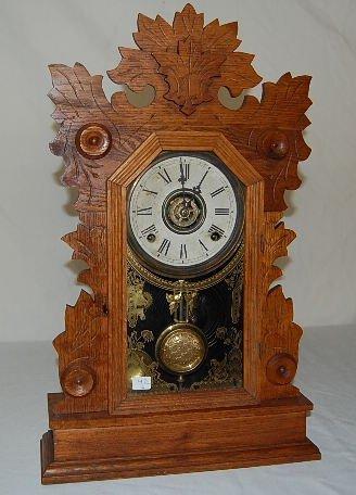 16: Oak Case Gilbert Swan Kitchen Clock
