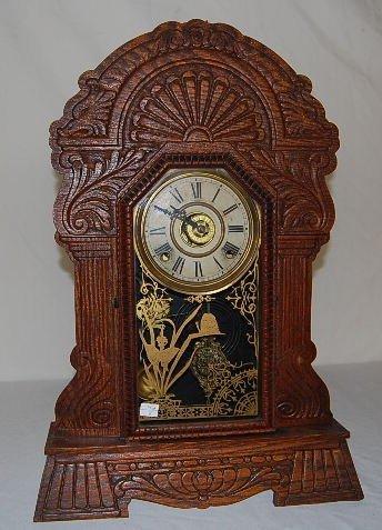 18: Oak Case Sessions Elite No. 77 Kitchen Clock