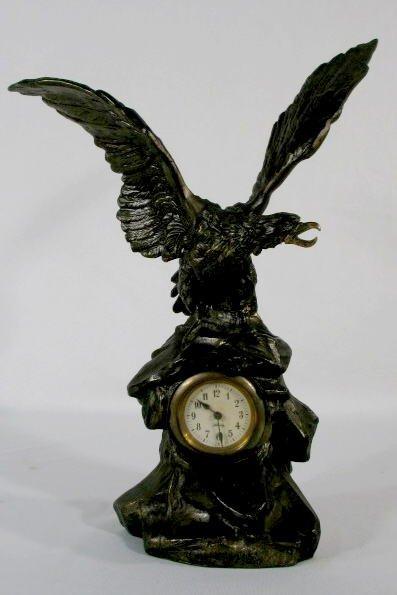 19: Novelty Clock- Eagle on Rock Pile