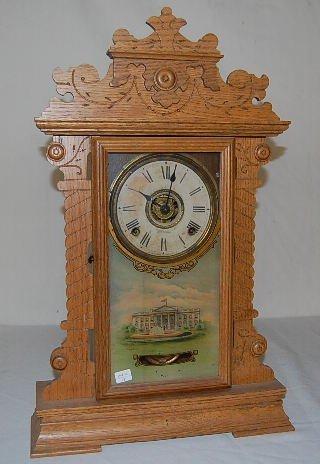 20: Oak Case Seth Thomas Kitchen Clock