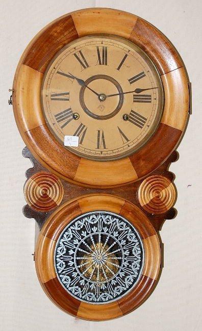 """25: Ansonia 8"""" Kobe Hanging Clock"""
