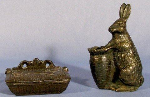 2: Cast Iron Figural Match Holders