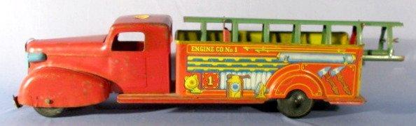 14: Wyandotte Tin Litho & Steel Fire Truck
