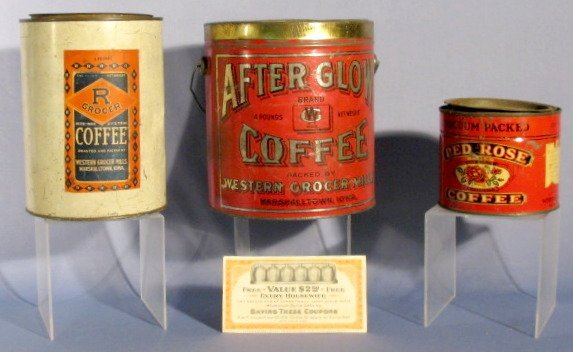 15: Group of 4 Western Grocer Mills Collectibles
