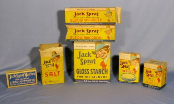 21: Group of 7 Jack Sprat Advertising Collectibles