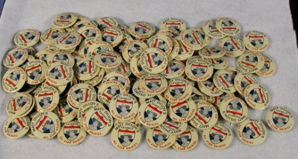 23: Group of All Star Dairies Pinback Buttons