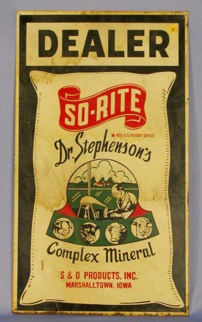 24: Dealer Dr. Stephenson's Mineral Steel Sign
