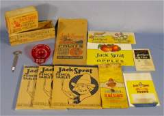 120A: Group of 13 Jack Sprat Items