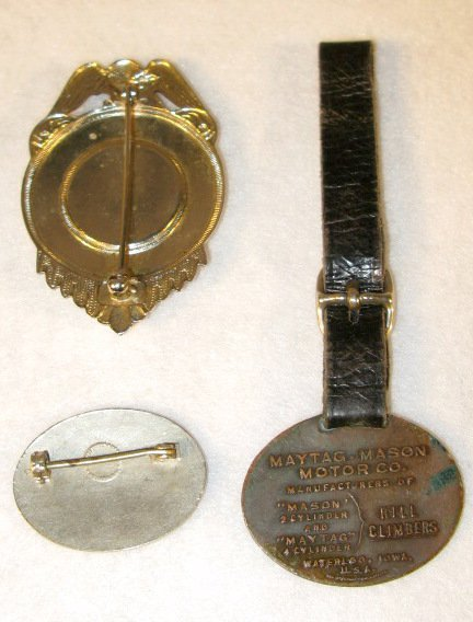 130: Group of 3 Maytag Collectible Badges & Fob - 5