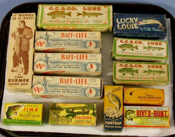 145: Group of 12 Old Fishing Lures in Original Boxes