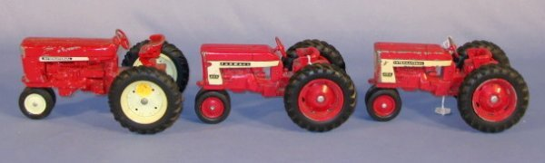 236: Group of 3 Old International Toy Tractors