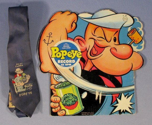 354: 16 Vintage Popeye Collectibles, 1920's-1960 - 7