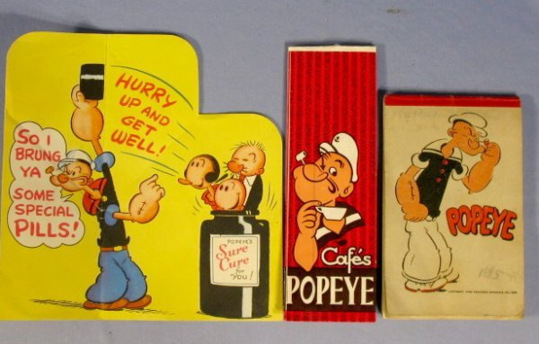 354: 16 Vintage Popeye Collectibles, 1920's-1960 - 8
