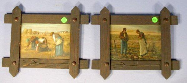 8: Framed Prints: Gleaners & Angelus