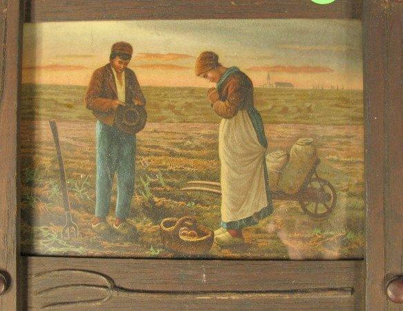 8: Framed Prints: Gleaners & Angelus - 3