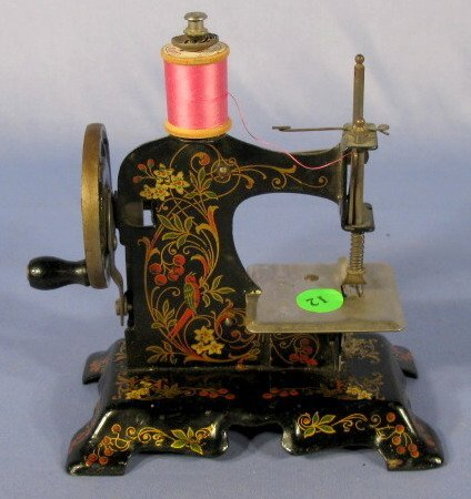 12: Germany Metal Stenciled Child's Sewing Machine