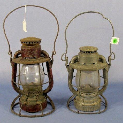 18: NYNH & H and N.Y.C.S. Railroad Lanterns