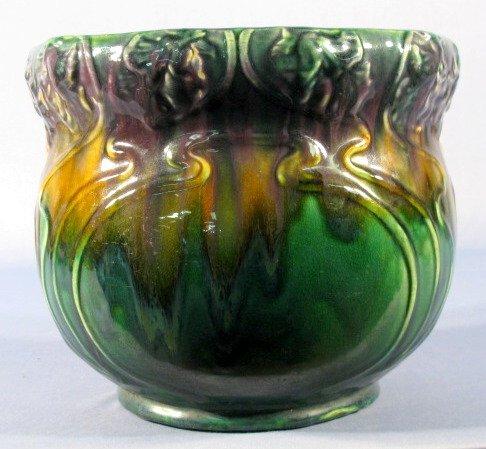 54: Art Nouveau Blended Majolica Jardiniere