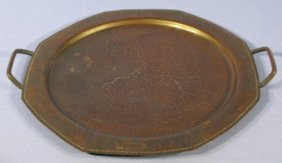 Roycroft Hammered Metal Serving Tray