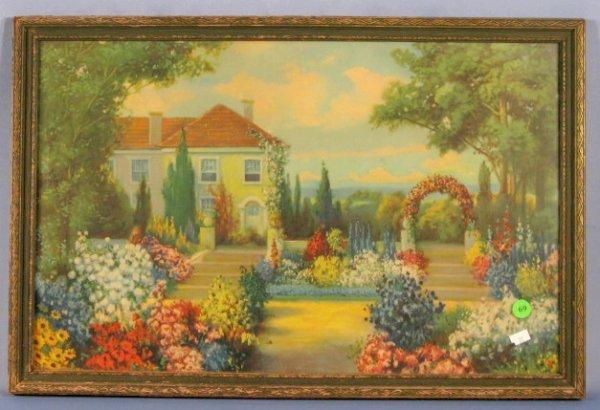 69: 1927 AMP Chicago House & Garden Framed Print