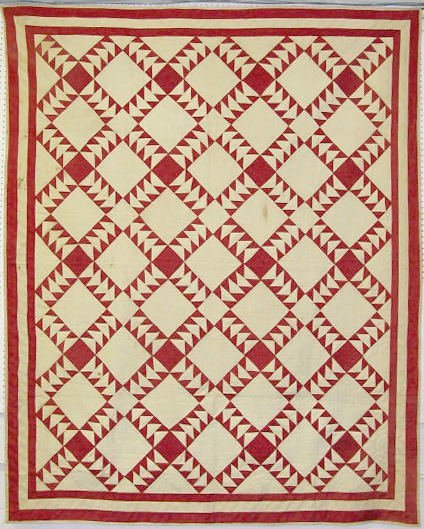 72: Full Size Geometric Pattern Summer Quilt
