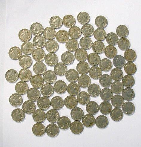 1: Coins - 80 Buffalo Nickels