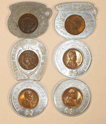 3: 6 Coin Souvenir Pieces, 3 Ea - 1904 & 1957