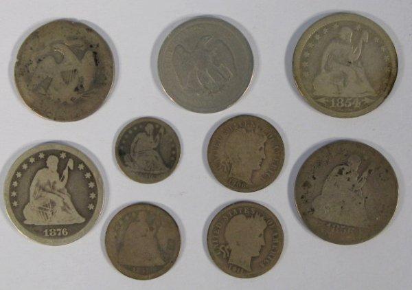 7: Coins - 8 Mixed Coins