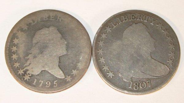 11: Coins - 1795 & 1807 Half Dollars