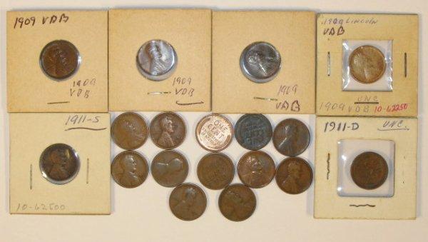 13: Coin - 16 Lincoln Wheat Ear Cents
