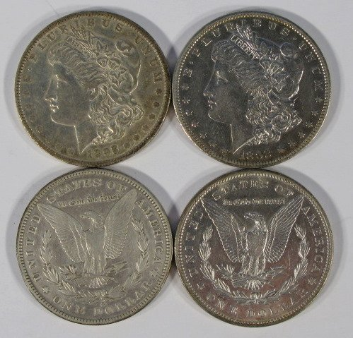 14: Coins - 4 - 1892 Morgan Dollars