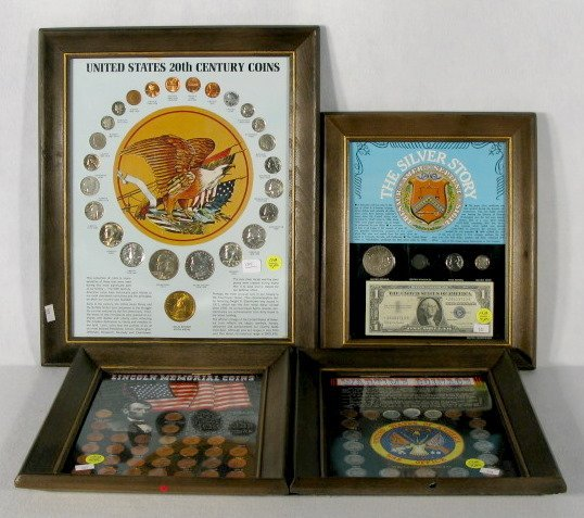 15A: Coins in 4 Display Frames
