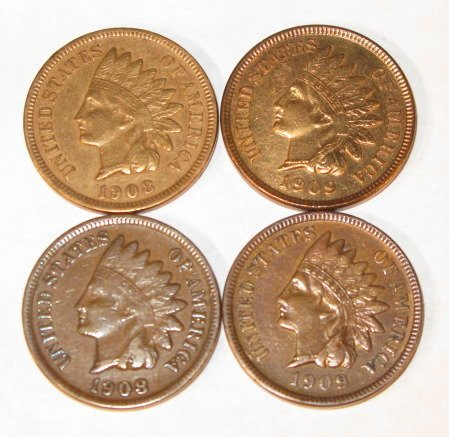 16: Coins - 4 Indian Cents
