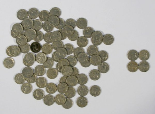 17: Coins - 80 Buffalo Nickels