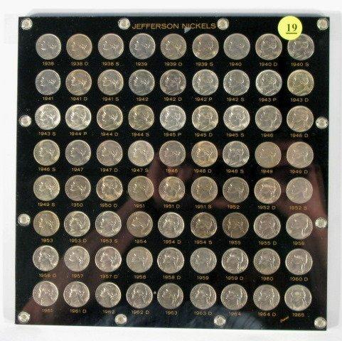 19: Coins - Jefferson Nickel Set