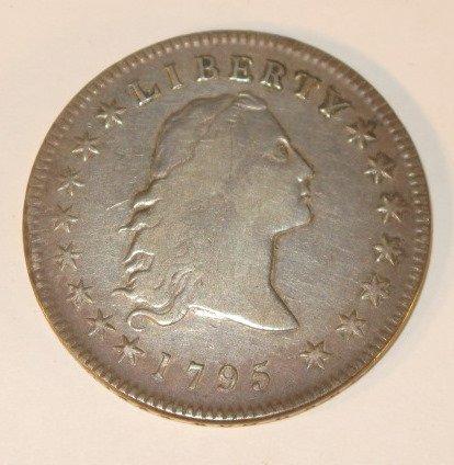 94: Coin - 1795 Flowing Hair Dollar