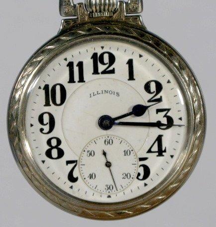 3: Illinois 60Hr. Bunn Special 21J 18S Pocket Watch