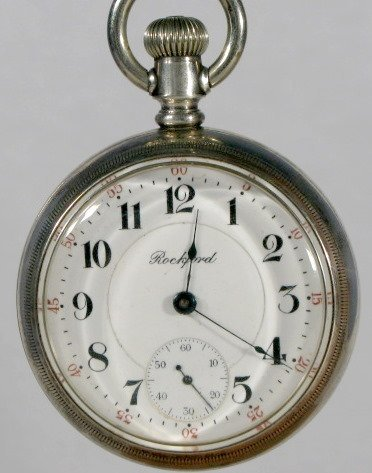 4: Rockford 910 21J 18S Coin Pocket Watch
