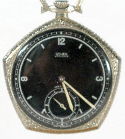 5: Gruen Verithin 17J 16S Open Face Pocket Watch