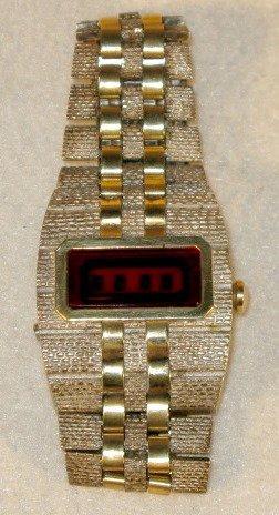 7: Bulova Sterling/14K Digital Wrist Watch