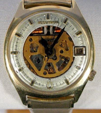11: Bulova Accutron 14K Skeletonized Wrist Watch
