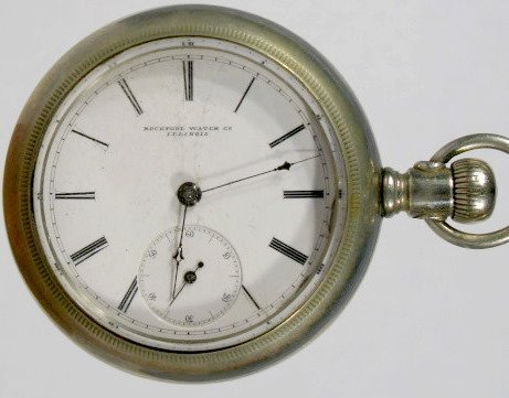 13: Rockford 18S Open Face Display Back Pocket Watch