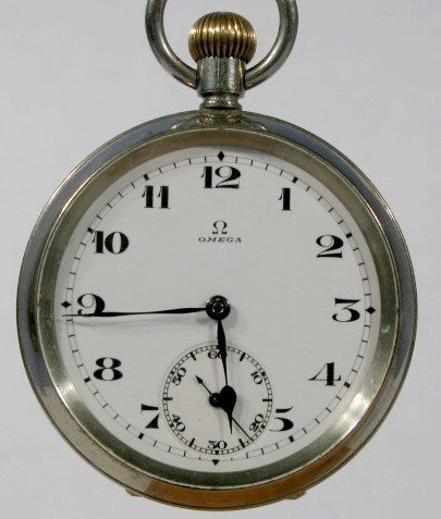 14: Omega 16S Open Face Pocket Watch