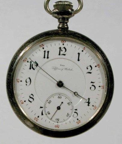 15: Tiffany 15J 16S Sterling Pocket Watch