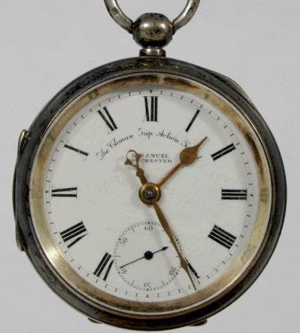 16: Climax Trip Action Patent Key Wind Pocket Watch