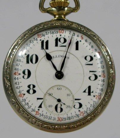 17: Illinois 161 60Hr Bunn Spec. 21J 16S Pocket Watch