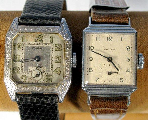20: Elaine 15J & Westclox Wrist Watches